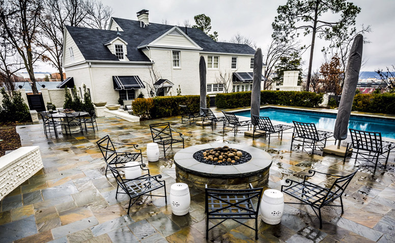 Pool, Patio, Firepit, Outdoor Living Spaces