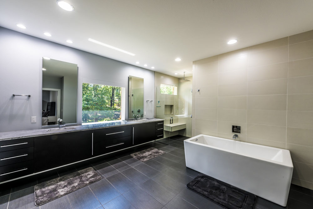 large modern bath addition tub