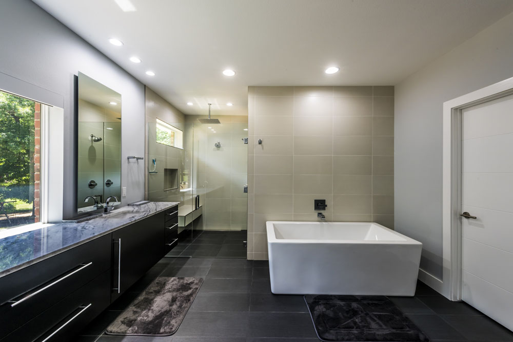 large modern bath addition